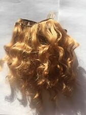 Human Hair Rooting Reborn Babies Toddlers Golden Blonde Wavey Waves NOT Mohair