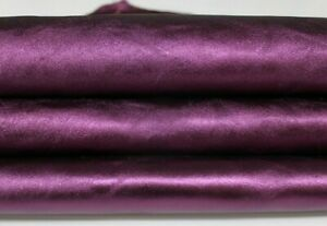 METALLIC GRAPE grapes Italian Goatskin Goat leather skin hide 6sqf 1.0mm #A6873