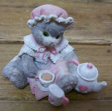 Calico Kittens Cat Figurine Tea and You Hit the Spot Pricilla Hillma Vintage
