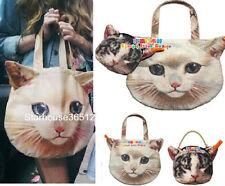 set of 2 Japan VIVI Muchacha Ahcahcum Cat Face Tote Shoulder Bag Handbag Purse