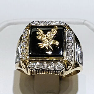 Cool Men's Eagle Rings Party Cocktail Jewelry Punk Hip Hop Ring Gift Size 7-11