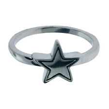 INOX Women's Stainless Steel Star Ring SIZE 10 FR375