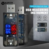 Dual LED 5V Digital USB Current Voltage Meter Voltmeter Power Detector Ammeter