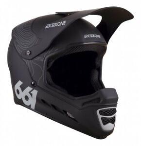 SixSixOne Reset Helmet Contour Black - Full Face Mountain Bike Helmet BMX MTB