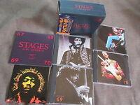 JIMI HENDRIX Stages JAPAN 4CD BOX SET POCP-2161~4 w/OBI+STICKER+64-page Booklet