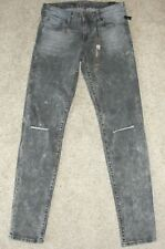 New Womens KUT Jeans Sz 2 Distressed Gray Mid Rise Diana Skinny Acid Washed