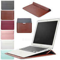 "Universal Leather Laptop Sleeve Carry Bag Case Skin For 14-15"" Laptop Ultrabook"