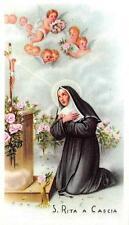 "OLD nice italy rare Holy cards  1960 ""H5955"" santa rita a cascia"