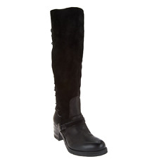 Miz Mooz Tall Leather Boots w/ Lace Detail - Shankara Black EU36 US 5.5-6 New