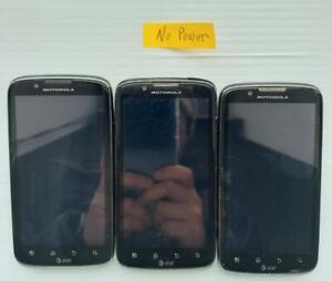Lot of 3 Motorola ATRIX 2 MB865 8GB Black AT&T Smartphone as..  - Fast Shipping!