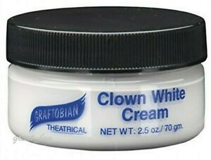GRAFTOBIAN THEATRICAL MAKEUP_FACE AND BODY PAINT_CLOWN WHITE CREAM  2.5oz