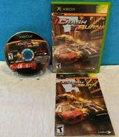 Crash 'N' Burn (Microsoft Xbox, 2004) with Manual - Tested & Working