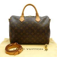 Authentic LOUIS VUITTON Speedy Bandouliere 30 Hand Bag Monogram M41112 #S308100
