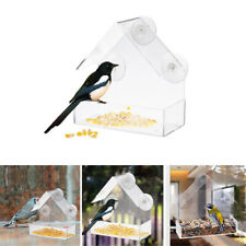 Acrylic Clear Pets Bird Squirrel Feeder Tray Birdhouse Window Suction Cup Tool