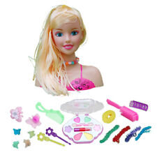 Funny Girls Cosmetic and Makeup Set, Doll Head for Hair Styling Play Toys A