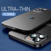 COVER per iPhone 12 Pro Max Mini CUSTODIA ULTRA SLIM OPACO + VETRO TEMPERATO 9H