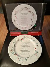 PFALTZGRAFF WINTERBERRY CHRISTMAS FAMILY & FRIENDS PLATE OF SHARING 12 INCHES!