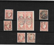 España. Ficha conteniendo sellos de 4 ctos. Edifil 44-48