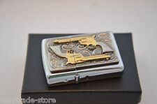 ZIPPO lighter Golden Revolver special Edition - 18K dusted gold inlays
