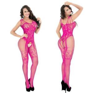 Lace Babydoll Lingerie Nightwear Sleepwear Bodysuit Body Fishnet Stocking C