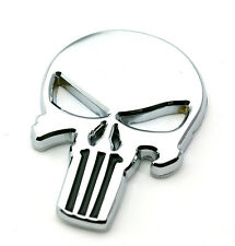 Frank Castle THE Punisher Car Emblem 616 Motorcycle FOR HD Road King Silver