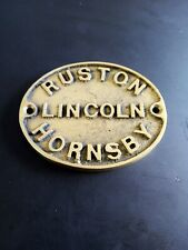 Ruston and Hornsby Stationary Engine solid brass plaques. Narrowboat marine