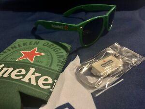 Heineken Sunglasses Koozie Bottle Opener Beer Merchandise New Summer Pool Kit