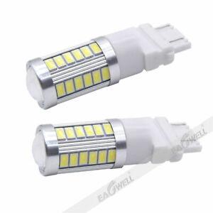 2Pcs White 3157 Car Reverse Light Backup 33-SMD LED Bulb Car Turn Signal Lamp
