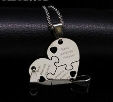 BFF Necklace Heart Best Friend Necklaces Pendant Friendship Jewelry Charm - 3pcs