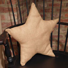 Country house new Burlap decor STAR pillow / nice accent pillow