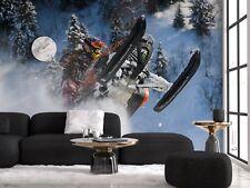 Original wall deco Mural sticker living room inspiration ski doo sports