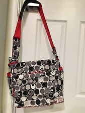 Ju-Ju-Be Midnight Eclipse messenger style baby diaper bag for moms (barely used)