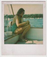 Original vintage 1980s polaroid swimsuit beauty