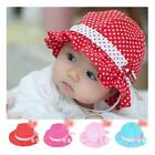 Multicolor Polka Dot Cotton Princess Soft Cap Sun Hat For Trottie Infant Baby