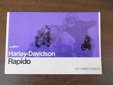 NOS OEM Harley-Davidson 99476-71 1972 Rapido OWNERS MANUAL 36 Pages 4-71