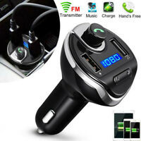 WIRELESS BLUETOOTH CAR MP3 PLAYER AUDIO ADAPTER FM TRANSMITTER USB CHARGER KIT