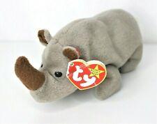 Rare Ty Beanie Baby Spike the Rhinoceros w/ Errors 1996 PVC Style #4060 Retired