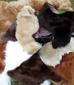 SALE 1kg Natural, Quality Sheepskin Off-Cuts - rug making and crafting