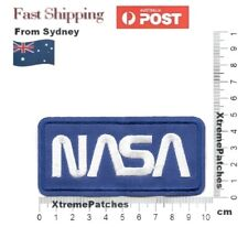 NASA Blue Space Embroidered Iron-on Sew Cosplay Patch Applique Motif Badge #1033