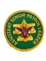 Vintage 1970s BSA Boy Scouts Assistant Senior Patrol Leader Patch Green Yellow