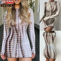 Women's Round Neck Bodycon Dress Mini Dress Ladies Sexy Clubwear Party Dresses