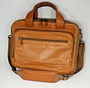 Hartmann Belting Leather Briefcase Laptop Case Messenger Bag with Shoulder Strap