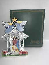 Shelia's House Town Square Nativity First Edition 1997 #2396/11997-Free Ship