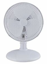 Optimus F0712 White 7 Inch Table Fan With 2 Speeds Adjustable