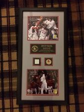 2004 Boston Red Sox Framed ALCS Extremely Rare Of 300 Game Used Baseball MLB