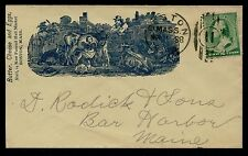 "#213 BLUE ADVT ""BUTTER CHEESE & EGGS STALL #14 NEW FANEUIL MARKET"" COVER BQ2433"