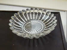 FAIRLY THICK GLASS BOWL WITH FLUTED SIDES  BON BON OR PICKLE DISH