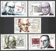 Germany 1989 Writers/Music/Choir/Books/Literature/Politics/People 5v set n40754