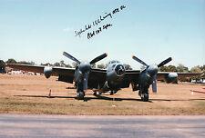 WW2 MOSQUITO PILOT Signed In Person 12x8 Photo  COA