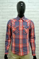 Camicia Uomo HOLLISTER Taglia Size S Maglia Shirt Man Manica Lunga Slim Fit